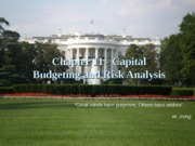 Risks related to capital budgeting