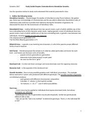 Study Guide- Chapter 3 Introductory to Mendelian Genetics (1).docx