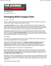 Packaging IKEA's Supply Chain