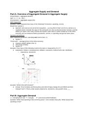 Section 4 - Aggregate Supply and Demand - Goffe