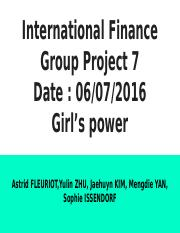 International Finance Group Project 8