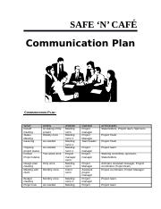 project mgnt week 6 comm plan