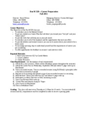Additional coursework on resume form 5 2011