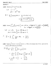 Integration with Trig Test 1