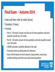 TBS928_Autumn2014_Lectures_Final_Exam_-_Review
