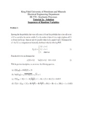 Tutorial 2a - Solutions