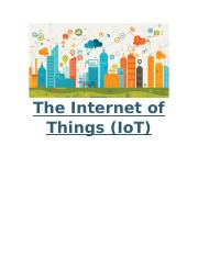 Week 3 - IA - The Internet of Things (IoT).docx