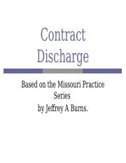 Contract Discharge (1)