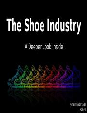 The Shoe Industry- Summative