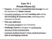 Solution- Private Fitness case