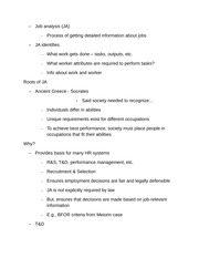 Exceptional 13 Pages Job Analysis And Design