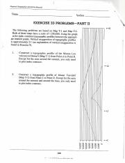 Geog Exercise 33 2 Pdf L Physical Geography Laboratory Manual Me Seeder Exercise 33 Problemspart Ii The Following Problems Are Based On Map Tl And Course Hero