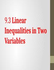 9.3 Linear Inequalities in Two Variables.pptx