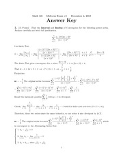 Midterm Exam #3- answer key