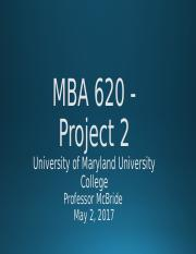 Group 5 MBA 620 - Project 2 Final
