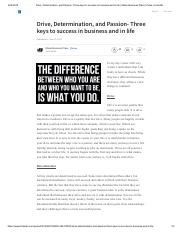 Drive, Determination, and Passion- Three keys to success in business and in life _ Miami Business Pl