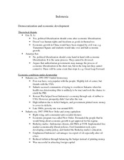 Case study notes-Indonesia