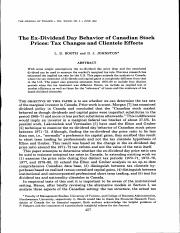 The ExDividend Day Behavior of Canadian Stock Prices Tax Changes and Clientele Effects.pdf