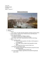 Geog 152: Cities of Europe - Week 1, Lecture 2.docx