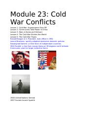 Module 23_ Cold War Conflicts.docx