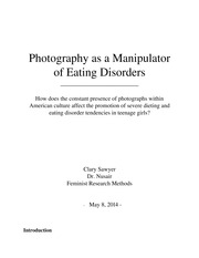 Photography Manipulation Affecting Eating Disorders Paper