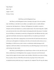 Paquette, Paige-Self-Efficacy and Self-Regulation Essay.docx