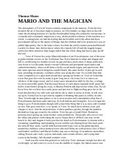 Mann, _22Mario and the Magician_22
