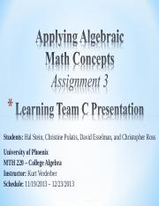 Assignment 3_MTH 220 Learning Team C_121613.ppt