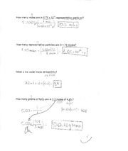 Test on Stoichiometry