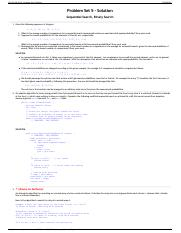 CS 112 Fall 2014 - Problem Set 5 Solution