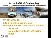 Lecture 4- The Construction Phase