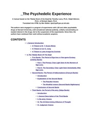 ThePsychedelicExperience_Manual