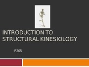 Introduction to Kinesiology Lecture Slides