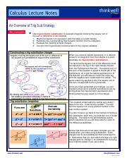Trigonometric Substitution Strategy
