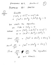 Homework B Solutions on Applied Differential Equations