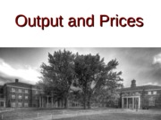 Output and Prices