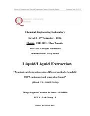 Liquid-Liquid Extraction - Thiago A C Souza