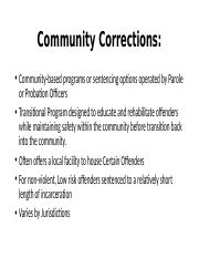 Community Correction Def. and Options,.ppt