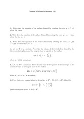 Differential Geometry Problem Set 6