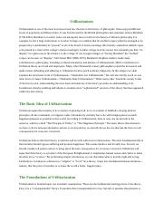 Utilitarianism Chapter 8