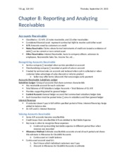 Chapter 8 - Reporting and Analyzing Receivables