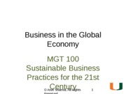 Business in the Global Economy (2013)