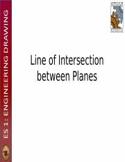 Lecture 9 - Line of Intersection of Planes