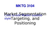 F10 MKTG 3104 Student  9. Segmentation and Positioning