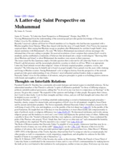 A Latter-day Saint Perspective on Muhammad