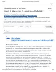 CLASS RESPONSE Topic_ Week 2_ Discussion- Screening and Reliability.pdf