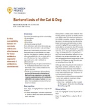 Bartonellosis of the Cat and Dog - Plumb_s Therapeutics Brief - 2015