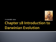 Chapter 18 Introduction to Darwinian Evolution