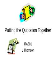 Putting the Quotation Together.ppt