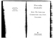 Drakulic - How We Survived Communism and Even Laughed